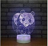 Leopardo Winzwon 3D Illusion Light 16 Models Touch Control 3D lamp illusion ottico LED Night Light con cavo di ricarica per Home Decor Kids Gift 3D Illusion Night Light