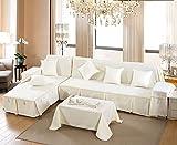 VERCART-Housse-de-Canap-Couleur-Uni-Moderne-210x200CM-Blanc