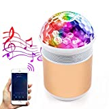 MALUX LED Lumières disco ball party avec haut-parleur Bluetooth Lampe disco portable RGB DJ Lights de la scène Parfait pour Bar/Maison/Intérieur/Extérieur/Anniversaire/Club