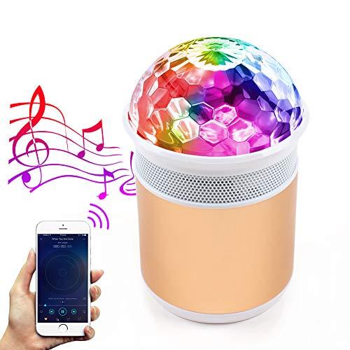MALUX LED Luces de fiesta de bola de discoteca con altavoz Bluetooth...