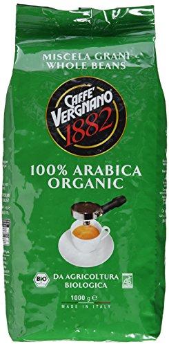 Caffè Vergnano 1882 Bio 100% Arabica Ganze Bohnen, 1er Pack (1 x 1 kg...