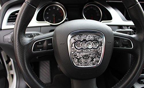 Audi - Mascherina adesiva per volante, A3 A4 A5 B8 S5 A6 A7 Q5 S4