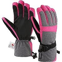 Andake Original 3M Thinsulate | Touchscreen Funktion wählbar | extrem warm wasserdicht Winddicht Rutschfest atmungsaktiv | Handschuhe Skihandschuhe Winterhandschuhe Thermohandschuhe Damen Frauen