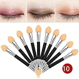 10Pcs Makeup Double-end Eye Shadow Eyeliner Brush Sponge Applicator Tool