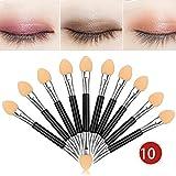 10Pcs Makeup Double-end Eye Shadow Eyeliner Brush Sponge Applicator Tool