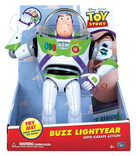 MTW Toys 64061 - Disney Pixar Toy Story, Action Figur Buzz Lightyear mit Karateschlag, 26 x 31 x 14 (Buzz Lightyear Helm)