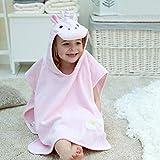 Toalla de baño estilo poncho con diseño de unicornio para niñas de 1 a 3 años