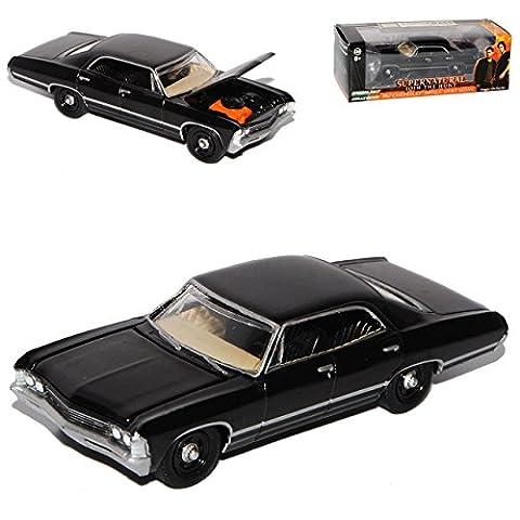 Chevrolet Impala Limousine Schwarz 1967 Supernatural Join The Hunt 1/64 Greenlight Modell Auto mit individiuellem Wunschkennzeichen