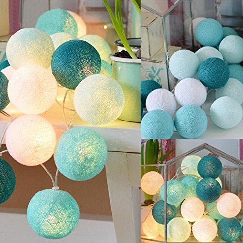 Lampenstring, Sansee Cotton Ball Lichterketten Fairy Hanging Hochzeit Schlafzimmer Wohnzimmer Patio (#A)
