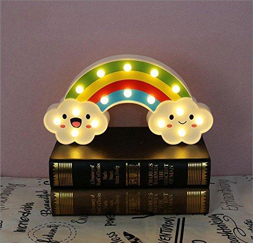 (LED Rainbow bunte Nacht Licht Batterien betrieben, dekorative Leuchten, Baby Nachttischlampe Kinder Spielzeug)