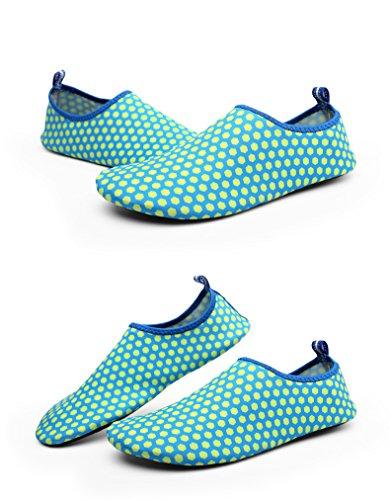 hibote Unisex Herren Damen Barfuß Wasserschuhe StrandschuheAtmungsaktiv Schwimmschuhe Aquaschuhe Surfschuhe SYU-2