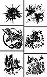 Armour Etch Rub N Etch Stencil Fliers, 5-Inch by 8-Inch