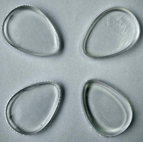 Lot de 4 éponges de maquillage Premium Silicone lavable – Professional Fluide Fond de Teint BB Crème Anti-cernes Poudre Beauté Applicator-gift Définit pour femme – Approuvé par la FDA