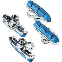 Xlc Zapatos de Freno Cartridge Road Campagnolo para Carbono Juego de 450mm, Plata/Azul, 2500385710