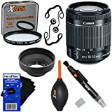 """Canon EF-S 18-55mm F/3.5-5.6 Is""""STM"""" Lens For Canon SLR Cameras (International Version) + 7pc Bundle Accessory Kit W/HeroFiber Ultra Gentle Cleaning Cloth"""