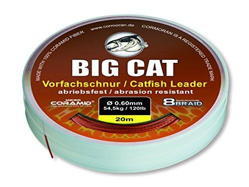 Big Cat Waller Vorfachschnur (20m / braun / 8 fach geflochten), Durchmesser:1.00mm