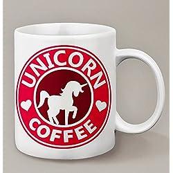 Taza, diseño de unicornio, de café de Starbucks versión Licorne–Kanto Factory -
