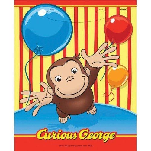 Curious George Favor Bags - Birthday and Theme Party Supplies - 8 Per Pack by SmileMakers Inc