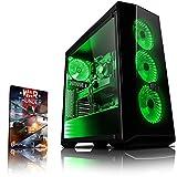 Vibox VBX-PC-278398 Gaming Desktop PC (AMD FX-Series Ryzen 7, 1000GB Festplatte, 8GB RAM, NVIDIA GeForce GTX 1070, kein Betriebssystem) Grün (Haushaltswaren)
