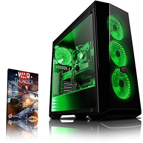 Vibox Genesis GR570-5 Dekstop PC da Gaming, Processore Ryzen 5, HDD da 1000 GB, RAM da 8 GB, Nvidia GeForce GTX 1070, Verde