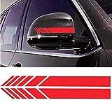 Hieefi 1 Paio Adesivi per Auto personalità Car Styling Auto Adesivo Striscia Auto Specchietti Retrovisori Auto Decalcomanie Creative Decalcomania Auto Decor Specchio Adesivo Retrovisore (Rosso)