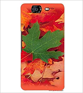 PrintDhaba Mapple Leaf D-4784 Back Case Cover for MICROMAX A350 CANVAS KNIGHT (Multi-Coloured)