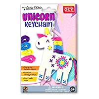 C.S. Kids Unicorn Keychain, First Sewing Arts & Crafts Gifts - Animal Crafting Keychain | Educational DIY Cross-stitch Sewing Kit for Kids, Sew Your Own Unicorn (Safety Needle & Instruction Included)