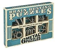Professor Puzzle Brain Busting 6 Metal Puzzle Set