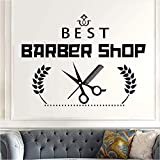Hwhz 43X58 cm Barber Shop Sticker Chop Bread Decal Haircut Shavers Posters Vinyl Wall Art Decals Decor Decoration Mural C