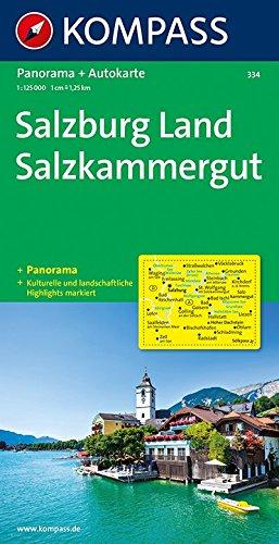 Kompass Panorama-Karten, Salzburg, Salzkammergut