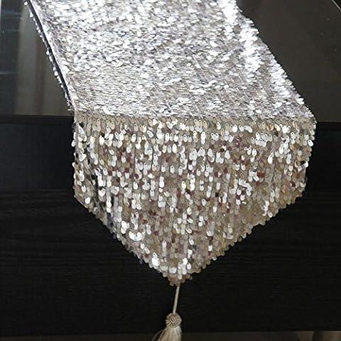 Drops glitter runner tavolo tavolo/ tavolo/ tovaglia/ bandiera-A 30x200cm(12x79inch)