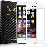 Surwell Protector de Pantalla para iPhone 6 / 6s Cobertura Completa 4.7 pulgadas, Cristal Templado, color blanco