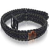 TW4Y Too Wild 4 You ® Premium Hundehalsband für große Hunde aus Paracord, handgemacht, verstellbar, reflektierend, einfach abwaschbar