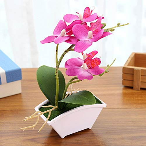 Artificial Dried Flowers - Flowers Home Decoration Artificial Flower Vase Butterfly Orchid Real Touch Leaves Plants Overall - Flowers Artificial Dried