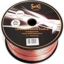 Lote de Cable para altavoces en bobina de plástico 2 x 0,75 mm² 100 m