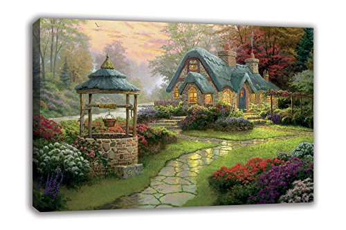 Make a Wish Thomas Kinkade Stampa Su Tela, (Thomas Kinkade Artwork)