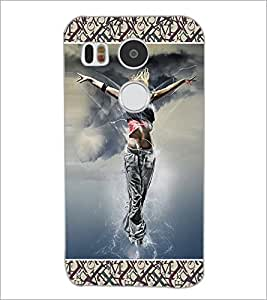 PrintDhaba Dancing Girl D-6028 Back Case Cover for LG NEXUS 5X (Multi-Coloured)
