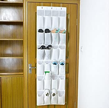 Bekith 24-pocket Over-the-door Organizer, Shoe Storage Bag, Shoe Rack, Shoe Storage Rack, White 3