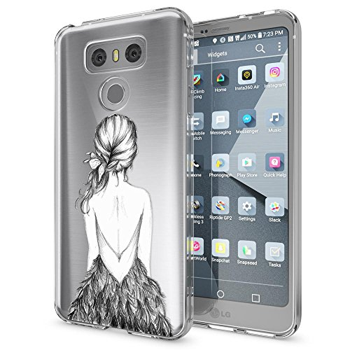 NALIA Handyhülle kompatibel mit LG G6, Motiv Design Ultra-Slim Silikon Case Cover, Crystal Schutzhülle Handy-Tasche Dünn, Muster Etui Backcover Hülle Smart-Phone Bumper, Designs:Bird Princess