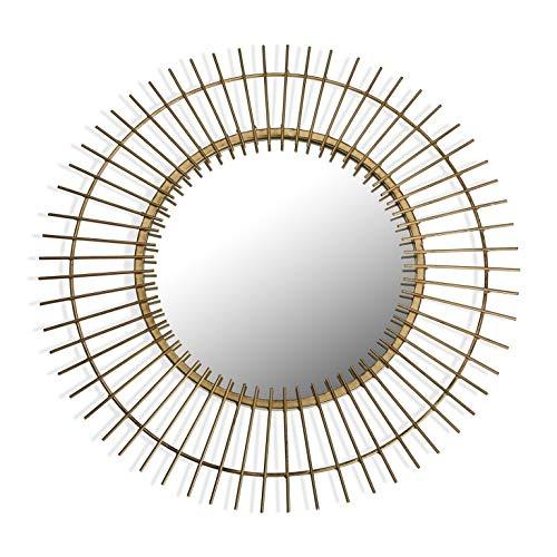 Suska-Regalos Espejo de Pared Redondo 60cm Sol Dorado