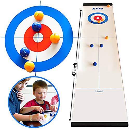 Tolyneil Tisch-Curling-Spiel, mehr Spaß Kompaktes Curling-Brettspiel für Familien, schnell und einfach einzurichten, Erwachsene und Kinder Mini-Tischspiele