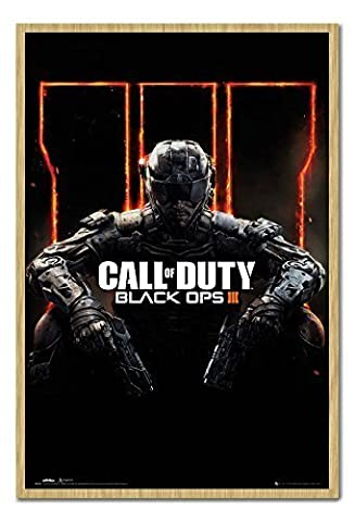 Call Of Duty Black Ops 3Poster Tableau d'Affichage magnétique en hêtre encadrée–96,5x 66cm (environ 96,5x