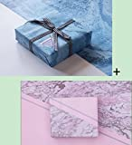 Weihnachtsbaumschmuck SeriesGift Geschenkpapier, Marmor 21 - beidseitiges Drucken 700 * 500
