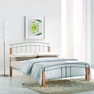 double Tetras bed frame with MCP memory foam soft luxury mattress plus 2 free memory foam pillow