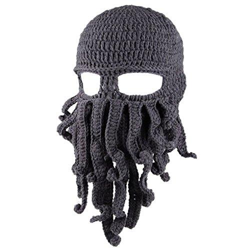 Ranboo Winter Unisex Tentakel Octopus Knit Beanie Hut Mütze Wind Ski Maske Fun-ski Hüte