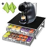 72 Porte-Capsules Nespresso avec 2 Chiffons de Nettoyage Supplémentaires Support Capsules Nespresso pour Machine à Café Masthome