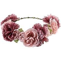 ULTNICE Blumenkranz,Blumen Stirnband Blumenkrone Boho Blumen Haarkranz Brautbrautjungfern Haarband für Damen Mädchen