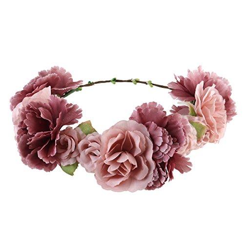 ULTNICE Blumenkranz,Blumen Stirn...