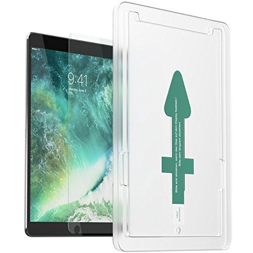 XeloTech Premium Panzerglas mit Schablone für iPad 2018/2017 9.7 Zoll - Passend für alle iPads mit 9.7 Zoll - iPad 2018, 2017, iPad Pro 9.7, Air 1 & Air 2 - Keine Folie - Echtes Glas