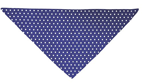 Soldes-Alfred-Compagnie-Foulard-triangle-doubl-bleu-petites-toiles-66x45x45